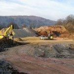 Gradnja gasilskega poligona v polnem teku